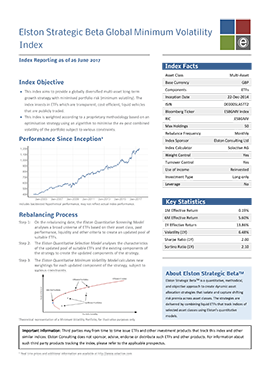 Elston Strategic Beta Global Minimum Volatility Index Factsheet