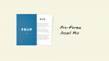 KIDs for PRIIPs: Pro-Forma Asset Mix