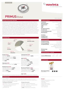 Nowinta PRIMUS Global Factsheet
