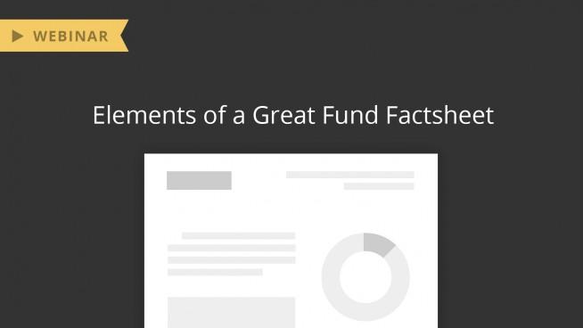 Webinar: Elements of a Great Fund Factsheet