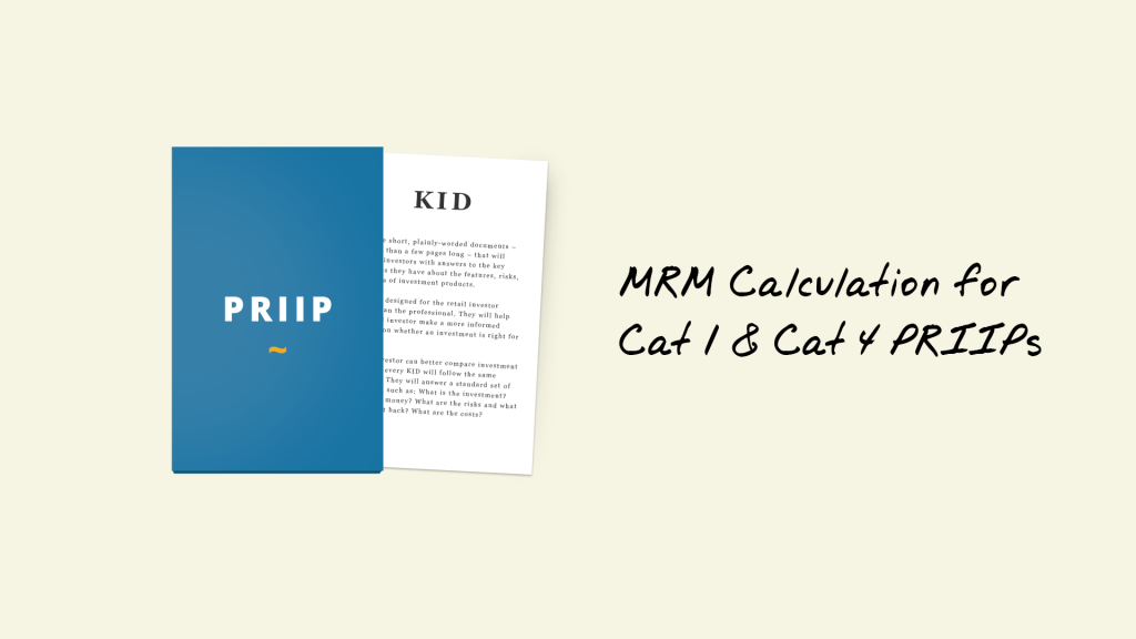 kids for priips mrm calculation cat 1 and 4